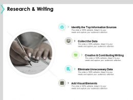 Research And Writing Information Sources B311 Ppt Powerpoint Presentation File Model