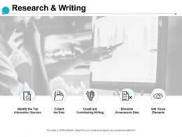 Research And Writing Information Sources Ppt Powerpoint Presentation Slides Good
