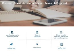 Research Constraints For Academic Research Proposal Ppt Powerpoint Presentation File