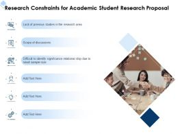 Research Constraints For Academic Student Research Proposal Ppt Powerpoint File Deck