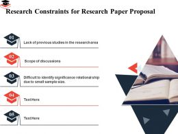 Research Constraints For Research Paper Proposal Relational Ship Ppt Powerpoint Presentation Tips