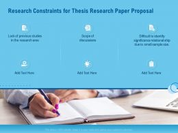 Research Constraints For Thesis Research Paper Proposal Ppt Powerpoint Model