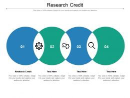 Research Credit Ppt Powerpoint Presentation Professional Graphics Design Cpb