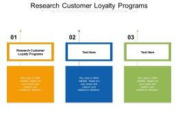 Research Customer Loyalty Programs Ppt Powerpoint Presentation Model Inspiration Cpb