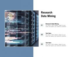 Research Data Mining Ppt Powerpoint Presentation Infographics Professional Cpb