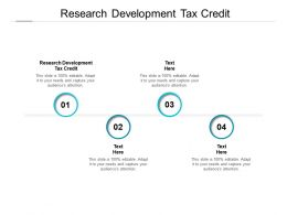 Research Development Tax Credit Ppt Powerpoint Presentation Sample Cpb