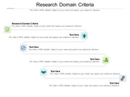 Research Domain Criteria Ppt Powerpoint Presentation Outline Slides Cpb