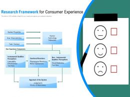 Research Framework For Consumer Experience