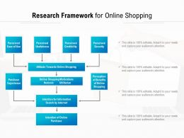 Research Framework For Online Shopping