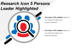 Research Icon 5 Persons Leader Highlighted