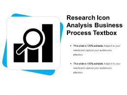 Research Icon Analysis Business Process Textbox