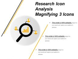 Research Icon Analysis Magnifying 3 Icons