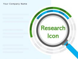 Research Icon Financial Portfolio Dollar Magnifying Glass Advertising Marketing Strategy