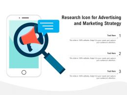 Research Icon For Advertising And Marketing Strategy