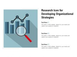 Research Icon For Developing Organizational Strategies
