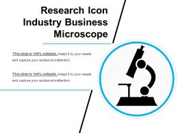 Research Icon Industry Business Microscope