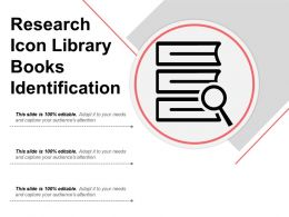 Research Icon Library Books Identification