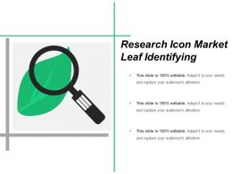 Research Icon Market Leaf Identifying
