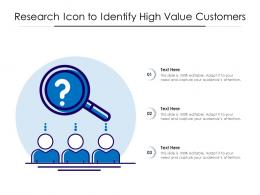 Research Icon To Identify High Value Customers