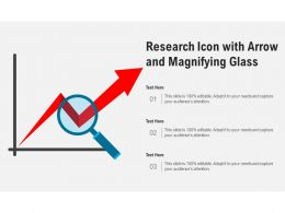 Research Icon With Arrow And Magnifying Glass