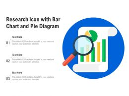 Research Icon With Bar Chart And Pie Diagram