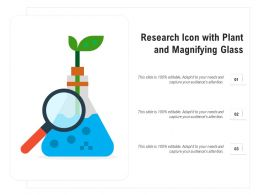 Research Icon With Plant And Magnifying Glass