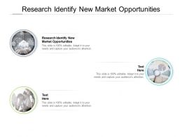 Research Identify New Market Opportunities Ppt Powerpoint Presentation Skills Cpb