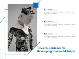 Research In Science For Developing Humanoid Robots