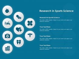 Research In Sports Science Ppt Powerpoint Presentation Infographics Pictures