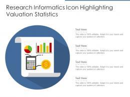 Research Informatics Icon Highlighting Valuation Statistics