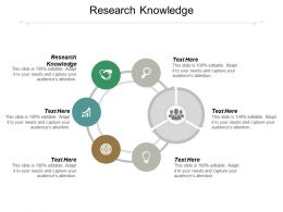 Research Knowledge Ppt Powerpoint Presentation Ideas Maker Cpb