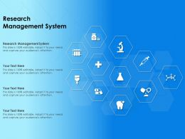 Research Management System Ppt Powerpoint Presentation Inspiration Objects