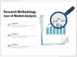 Research Methodology Icon Of Market Analysis