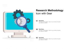 Research Methodology Icon With Gear
