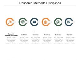 Research Methods Disciplines Ppt Powerpoint Presentation Slides Sample Cpb