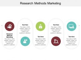 Research Methods Marketing Ppt Powerpoint Presentation Icon Graphic Images Cpb