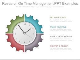 Research On Time Management Ppt Examples
