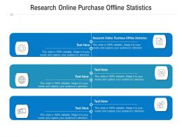 Research Online Purchase Offline Statistics Ppt Powerpoint Presentation Infographic Template Cpb