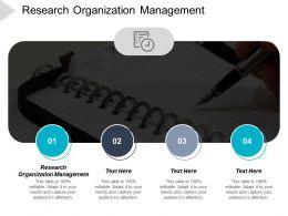 Research Organization Management Ppt Powerpoint Presentation Ideas Design Ideas Cpb