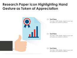 Research Paper Icon Highlighting Hand Gesture As Token Of Appreciation