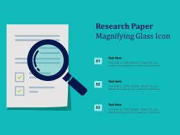 Research Paper Magnifying Glass Icon