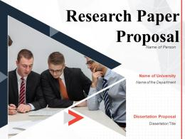 Research Paper Proposal Powerpoint Presentation Slides