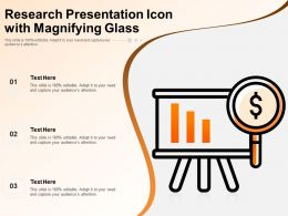 Research Presentation Icon With Magnifying Glass