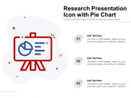 Research Presentation Icon With Pie Chart