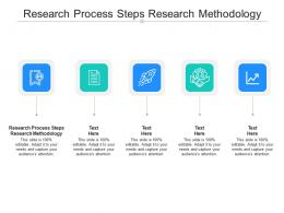 Research Process Steps Research Methodology Ppt Powerpoint Presentation Icon Graphics Cpb
