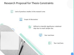 Research Proposal For Thesis Constraints Ppt Powerpoint Presentation Infographic