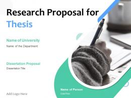 Research Proposal For Thesis Powerpoint Presentation Slides