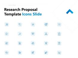 Research Proposal Template Icons Slide Ppt Powerpoint Presentation Show Master Slide