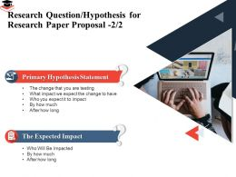 Research Question Hypothesis For Research Paper Proposal Expected Impact Ppt Example 2015