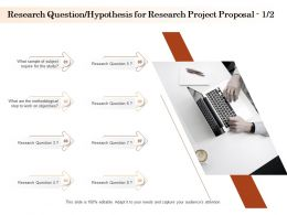 Research Question Hypothesis For Research Project Proposal L1585 Ppt Powerpoint Summary